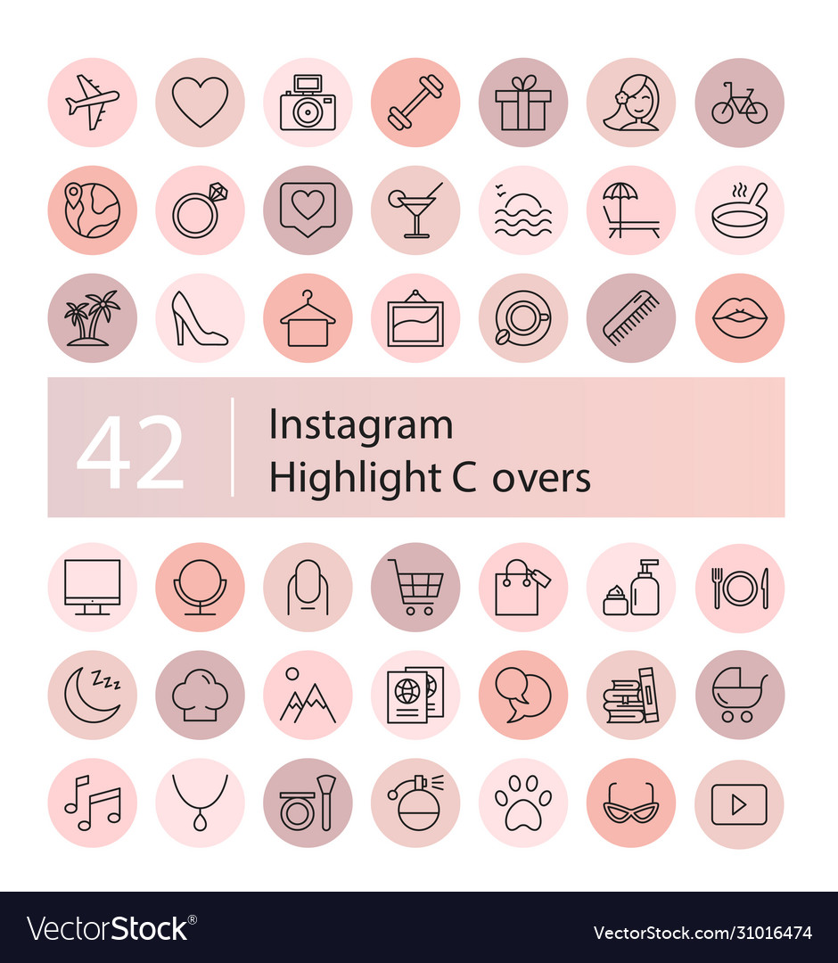 Instagram highlight icons set