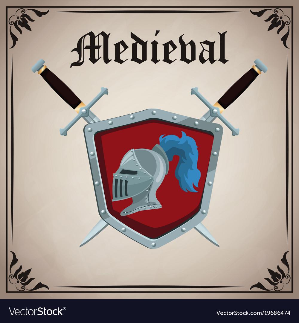 Medieval emblem insignia