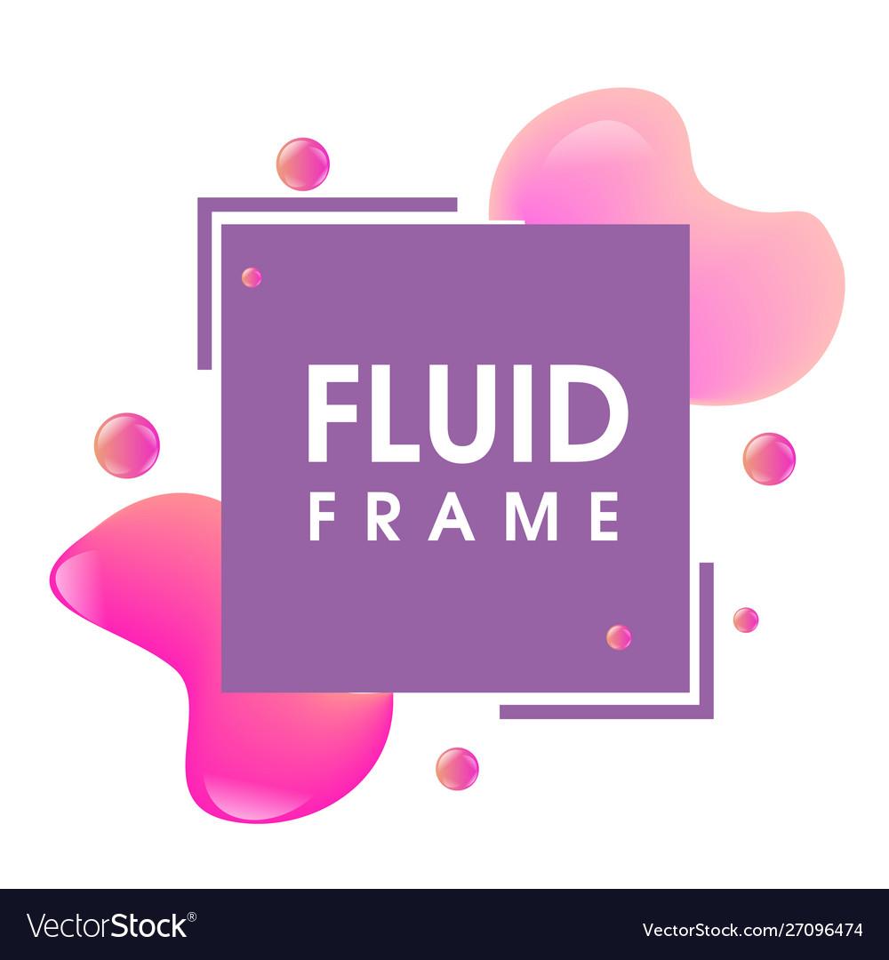 Modern abstract fluid frame design