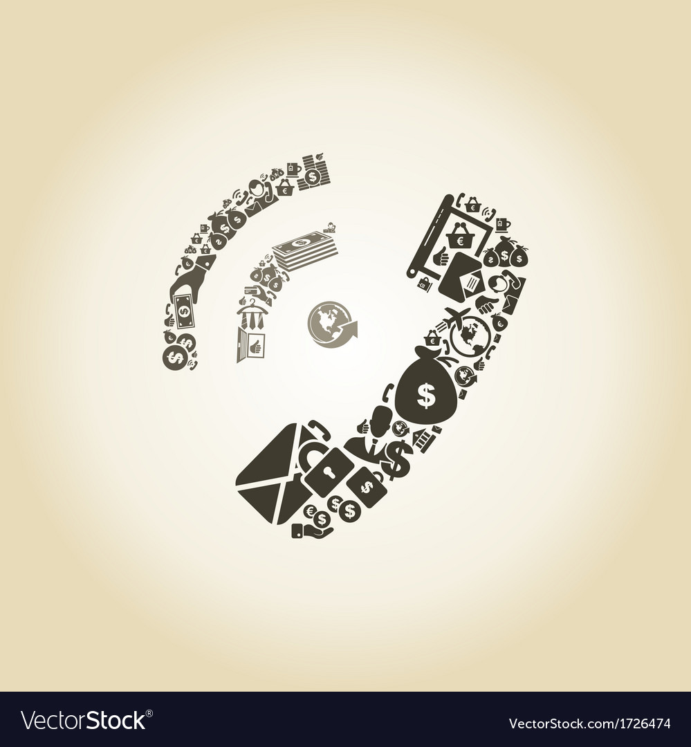 Phone business vector image