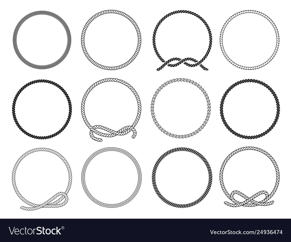 Round rope set twisted round pattern for