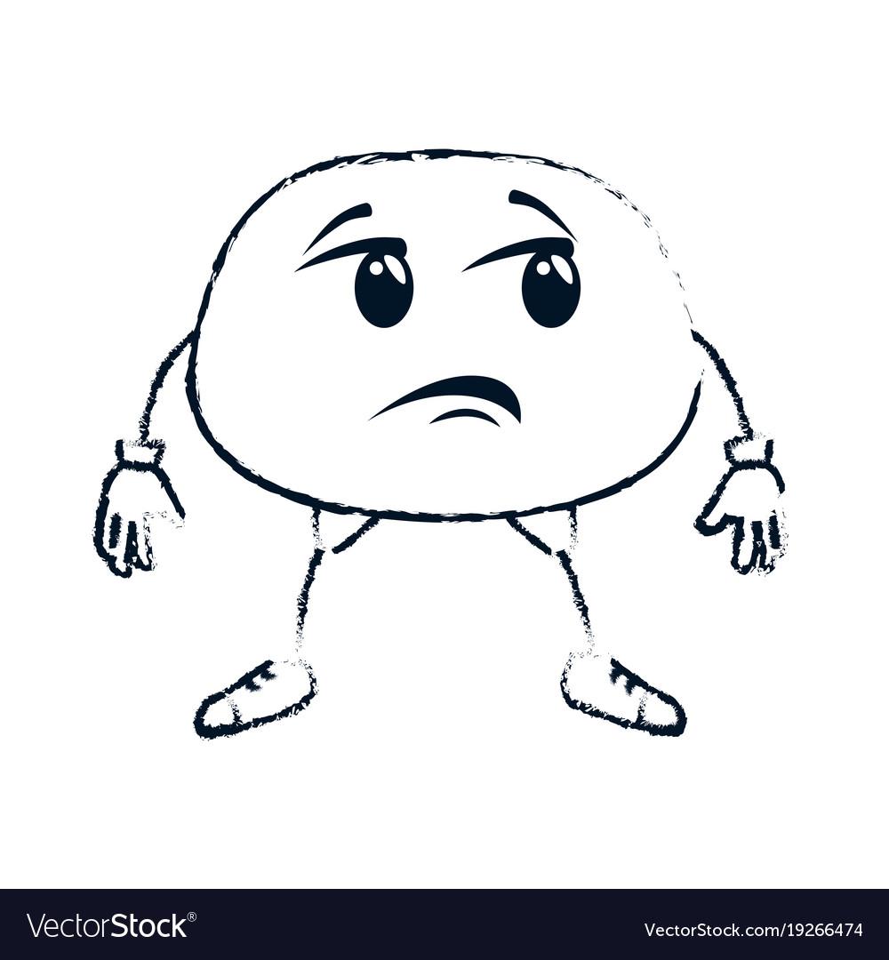 sad face emoji character royalty free vector image
