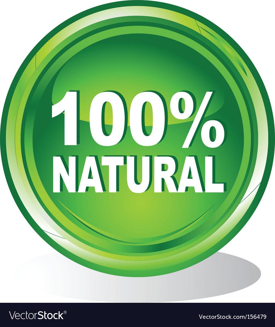 100 percent natural symbol