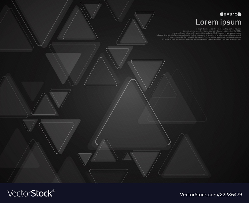 Abstract of technology triangle pattern on