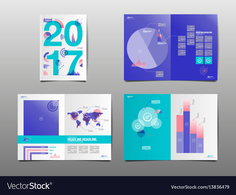 Annual report 2017 template layout design cover