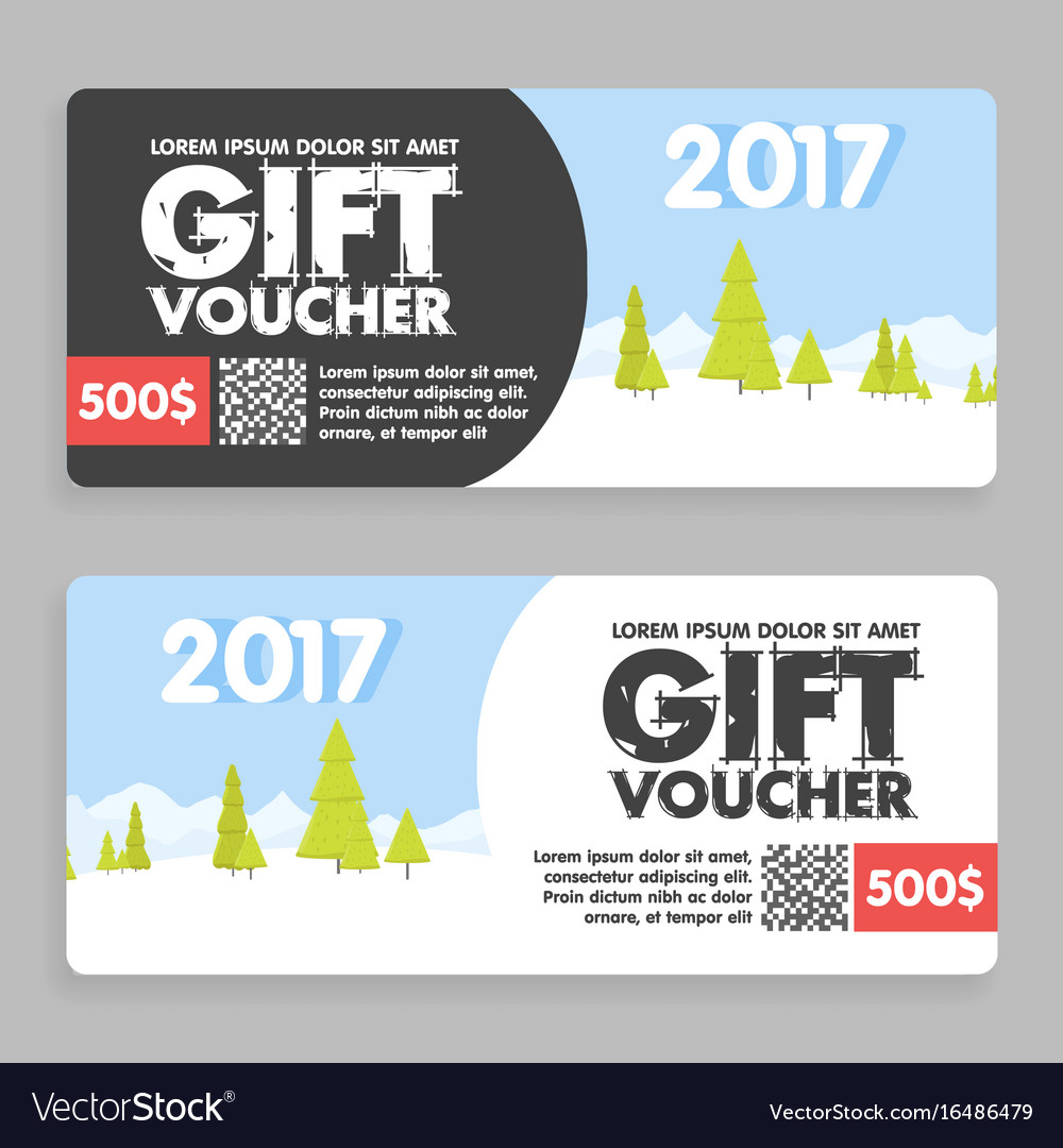 Christmas and new year gift voucher certificate