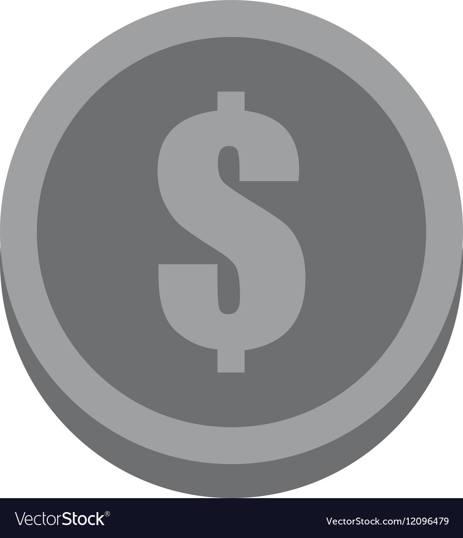 Coin dollar money currency gray color