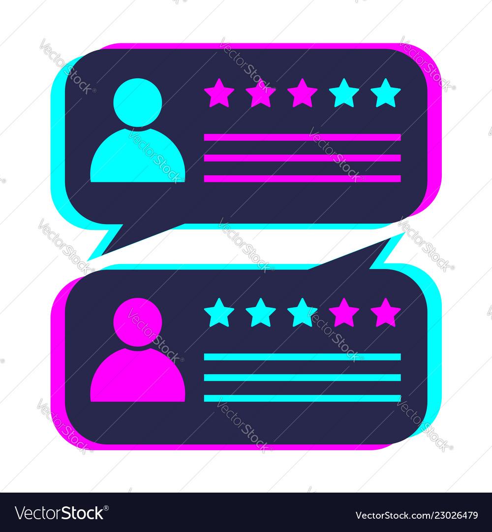 Colored speech bubble for feedback design element