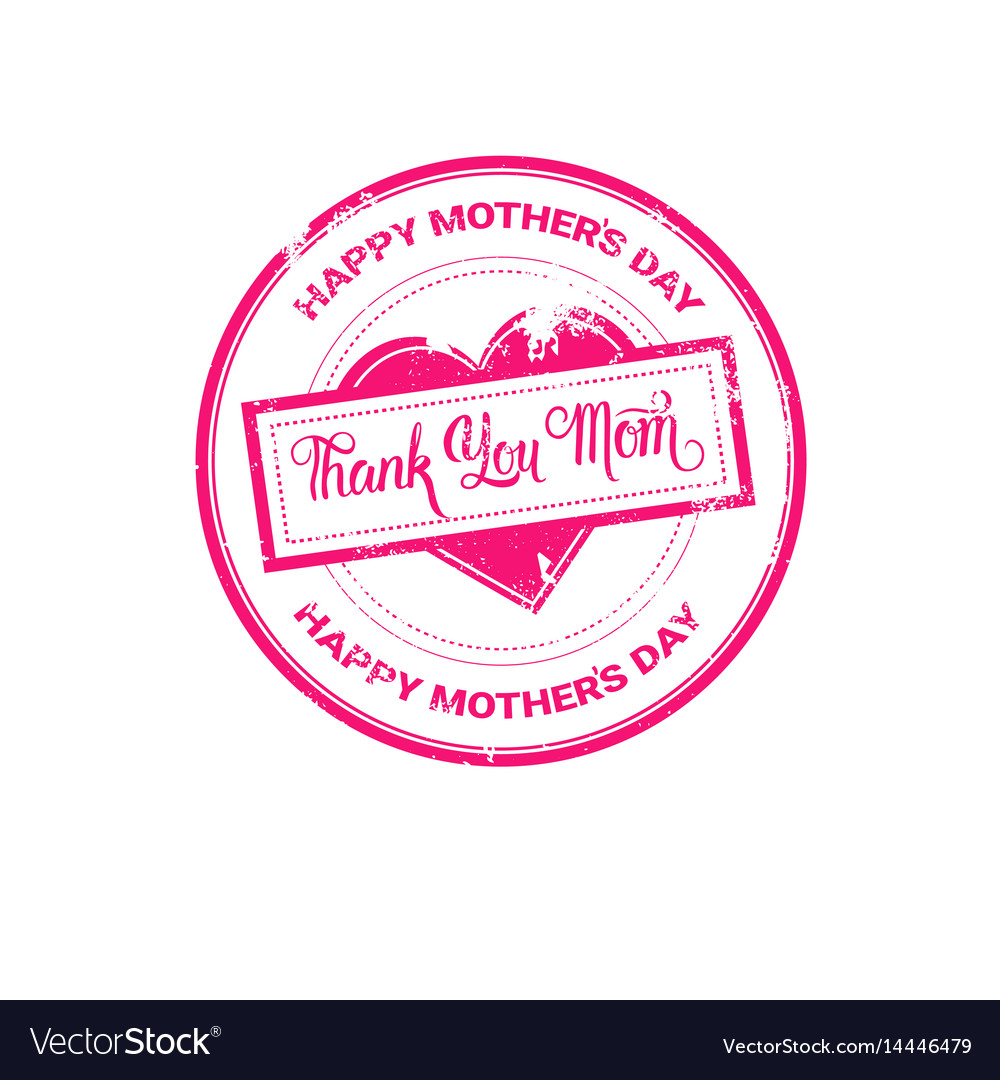 Happy mother day spring holiday greeting stamp vector image on VectorStock