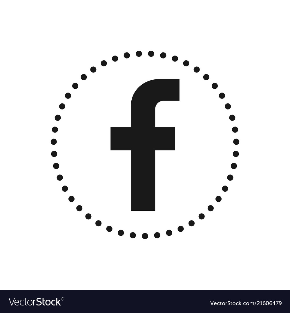 Letter F Social Media Icon Sign Or Symbol For Vector Image