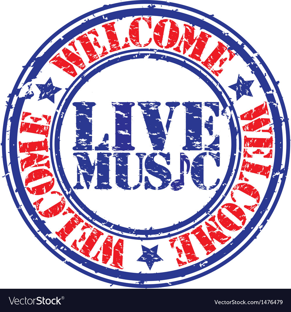 Live Music Stamp Royalty Free Vector Image