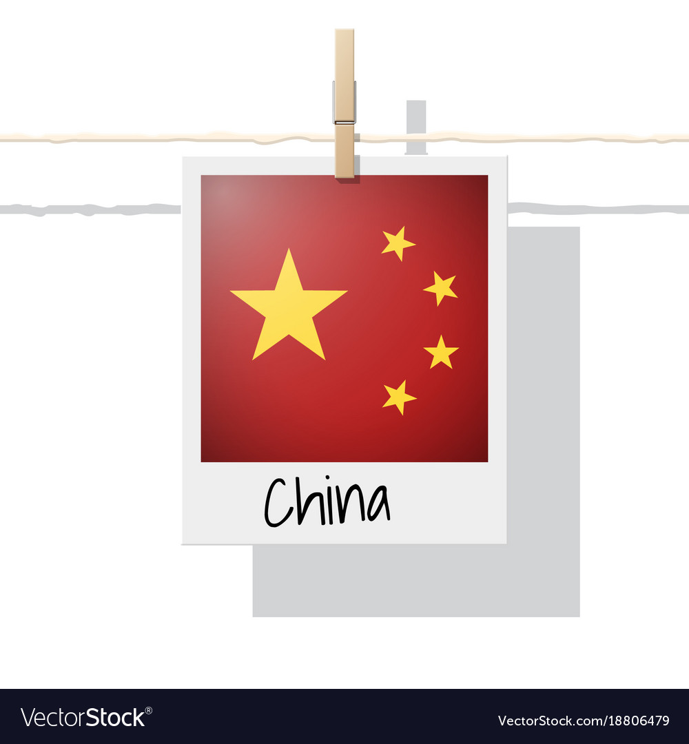 Photo Of China Flag On White Background Royalty Free Vector