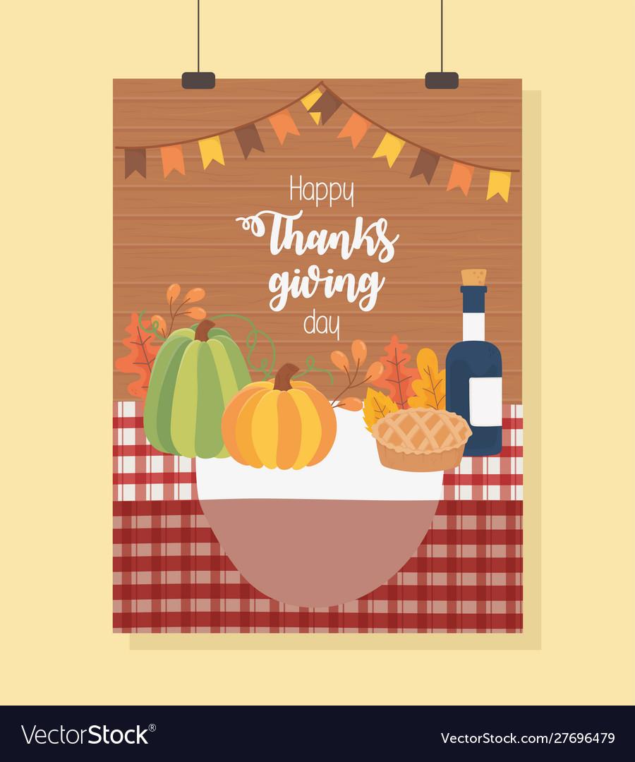 Pumpkin cake wine bottle tablecloth happy