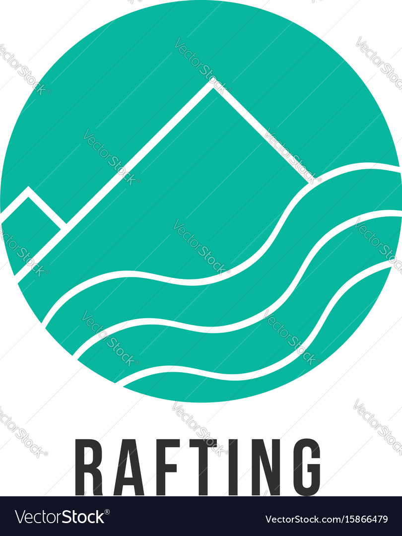 Simple green rafting icon