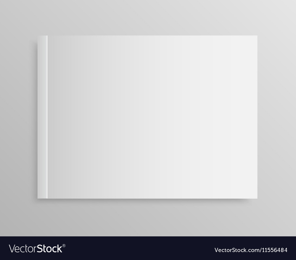 Blank empty magazine or book Mock up One