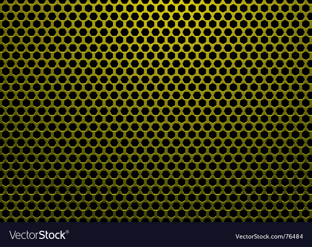 Hexagon gold background