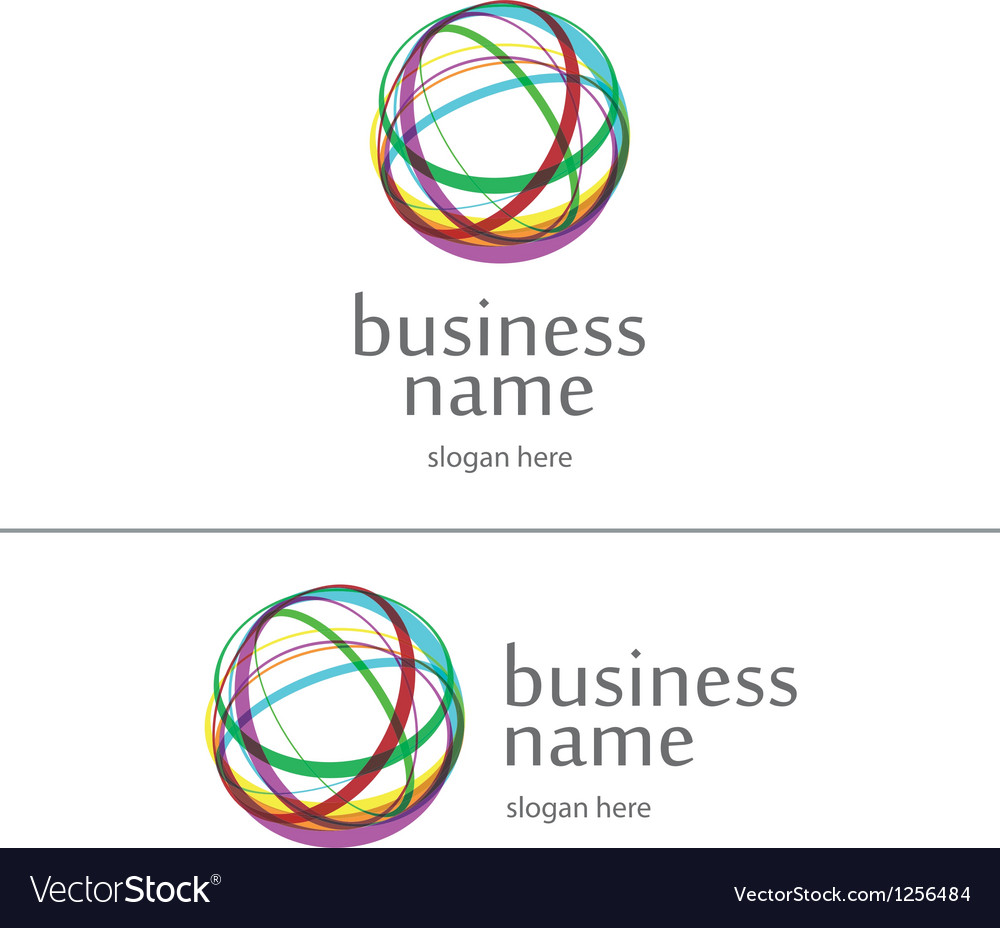 Logo ball of yarn vector image