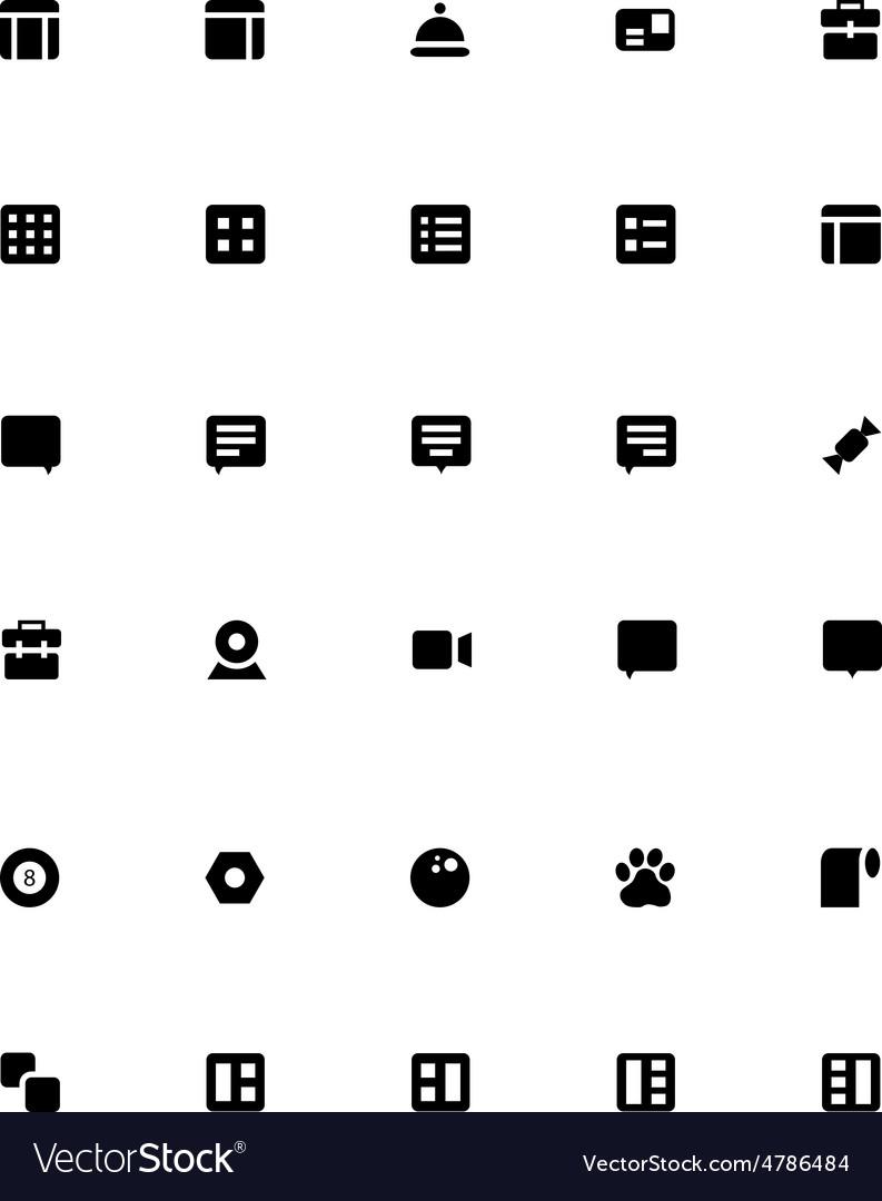 Mini Icons 27 vector image