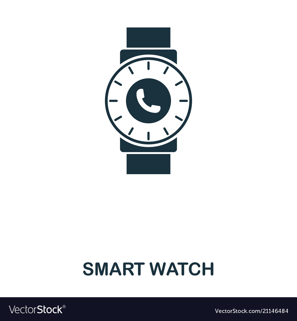 Smart watch icon mobile app printing web site