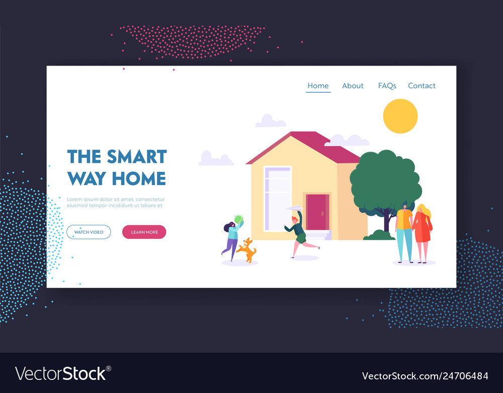 Smart way home landing page children playing