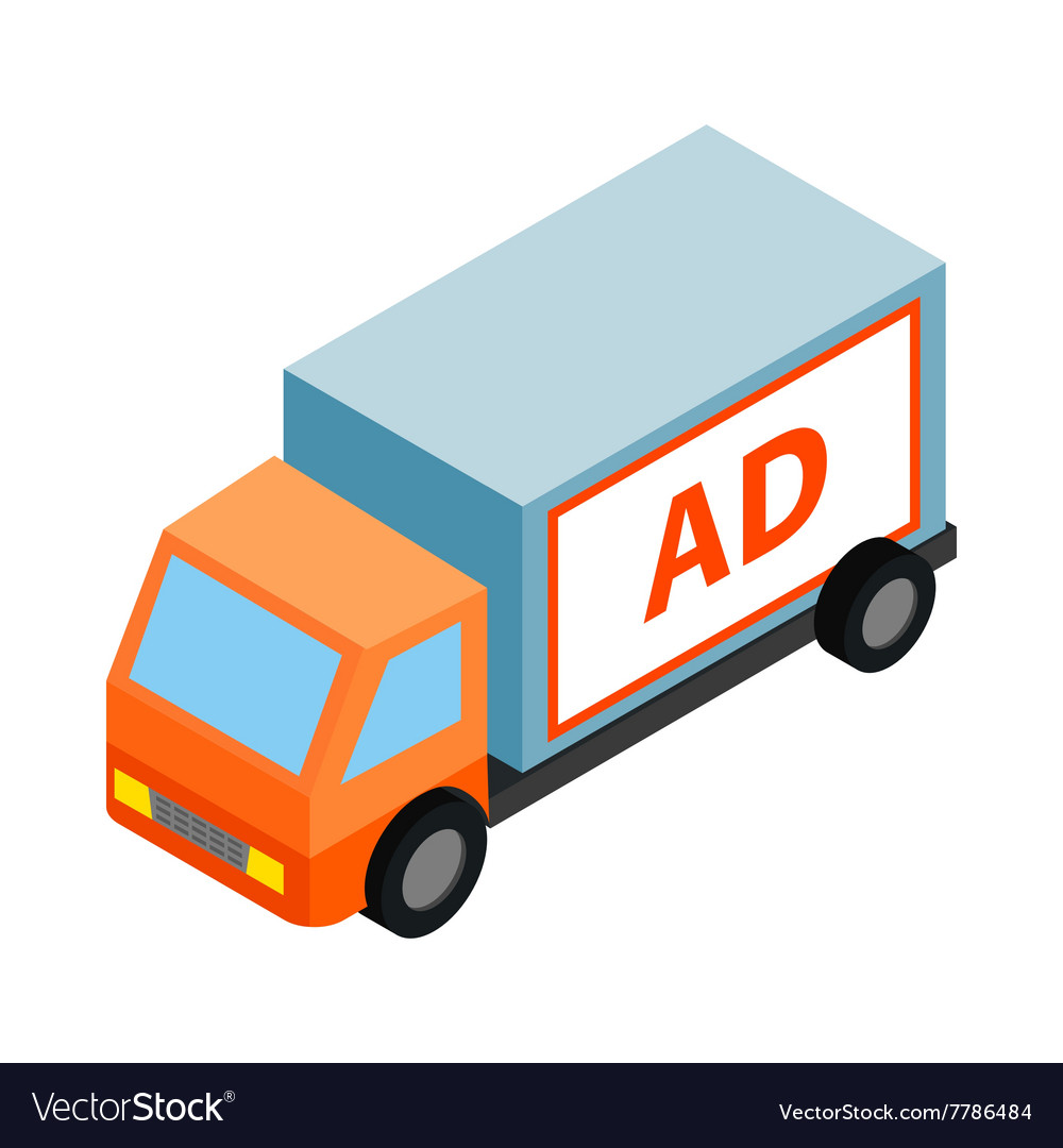 White sign for advertising on a truck icon