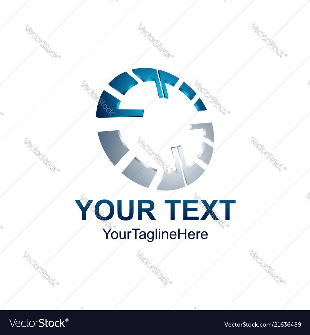 3d abstract circle creative logo design template