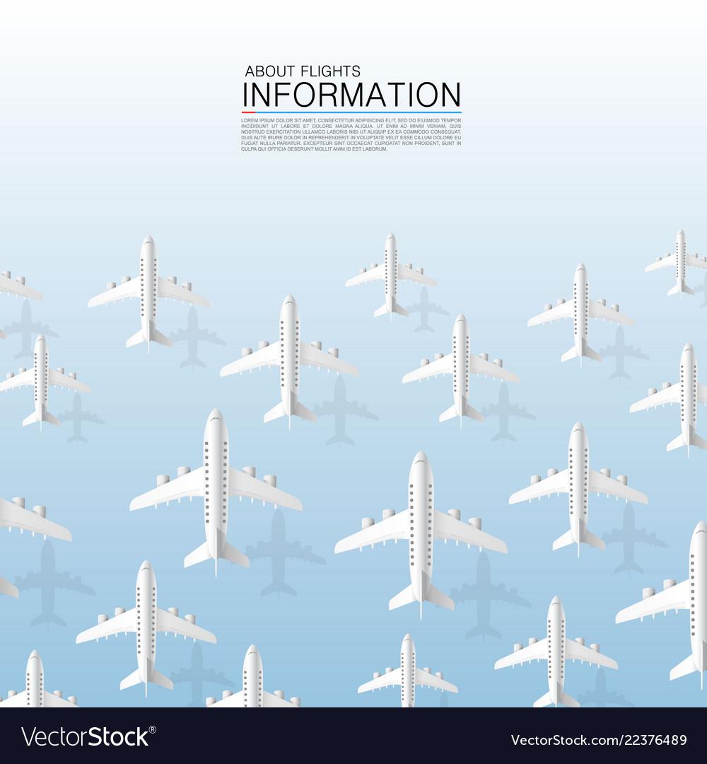 Aircraft many plane