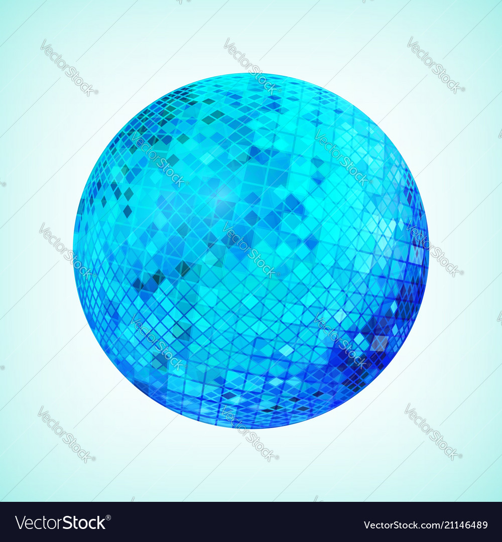 Blue discoball template
