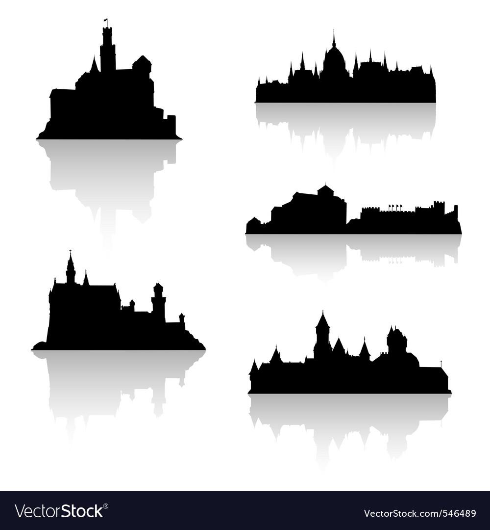 Castle silhouettes
