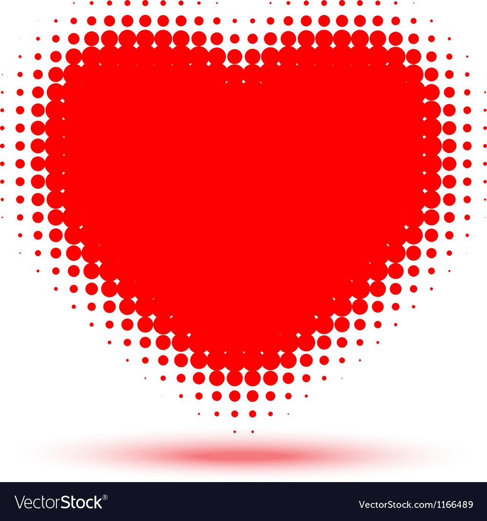Heart Halftone vector image