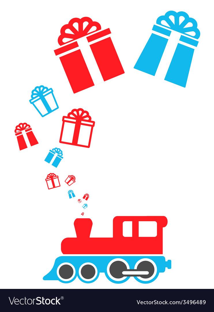 Isolated holiday train