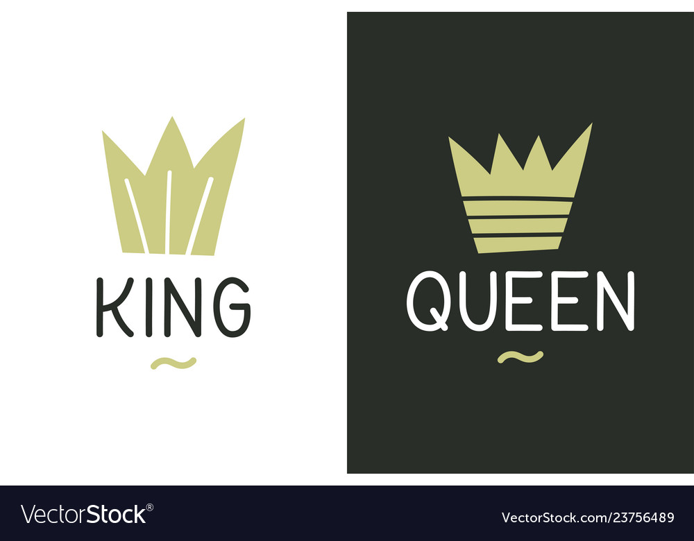 King Queen Inspirational Quote Design For T Vector Image