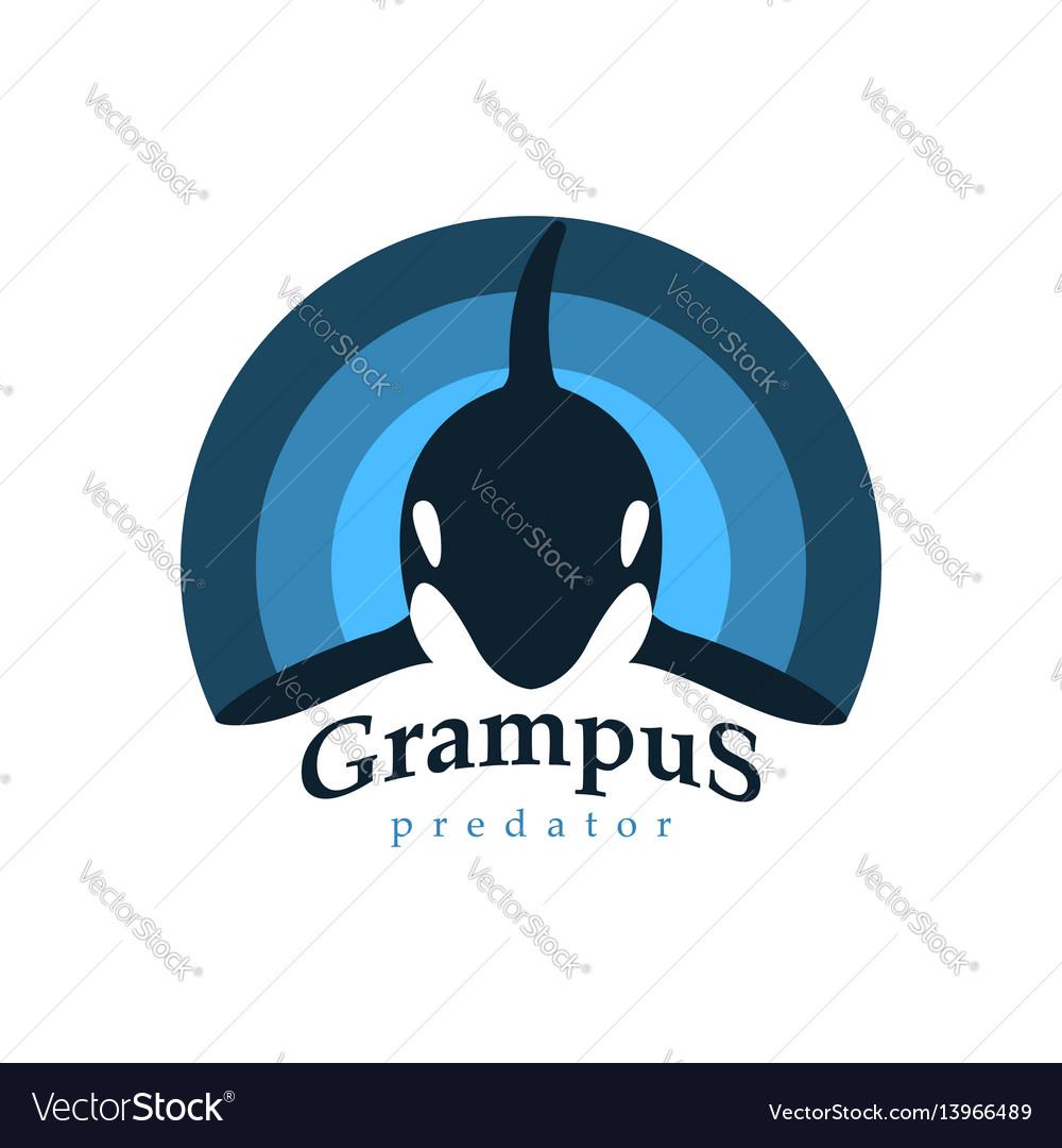 Logo orca whale grampus predator