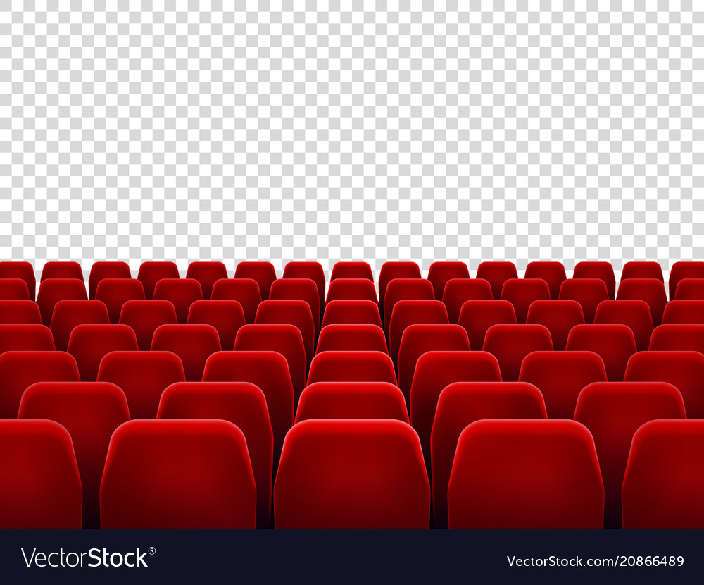 Seats At Empty Movie Hall Or Seat Chair For Film Vector Image