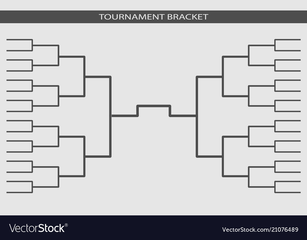 Bracket Template | Tournament Bracket Championship Template Vector Image