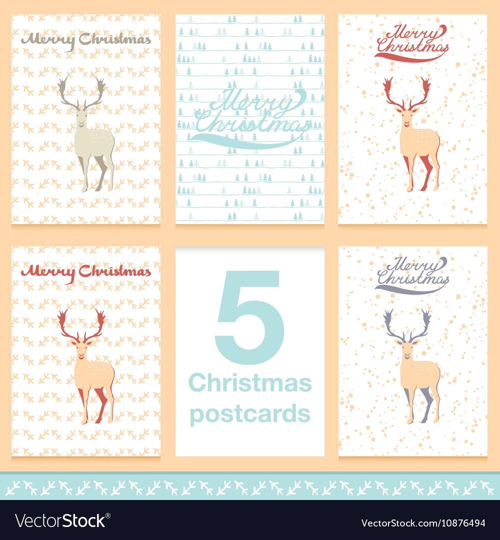 Christmas greeting card light and snowflakes