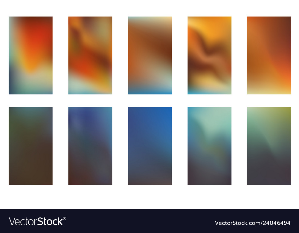 Collection of abstract gradient mesh futuristic
