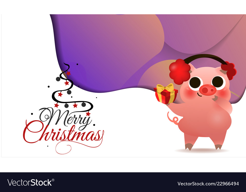 Happy chinese new year of pig greeting card card