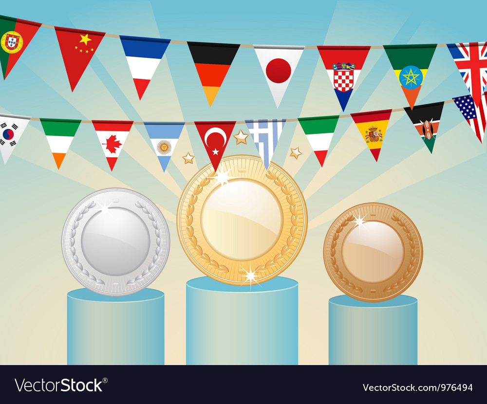 International Competition Awards vector image