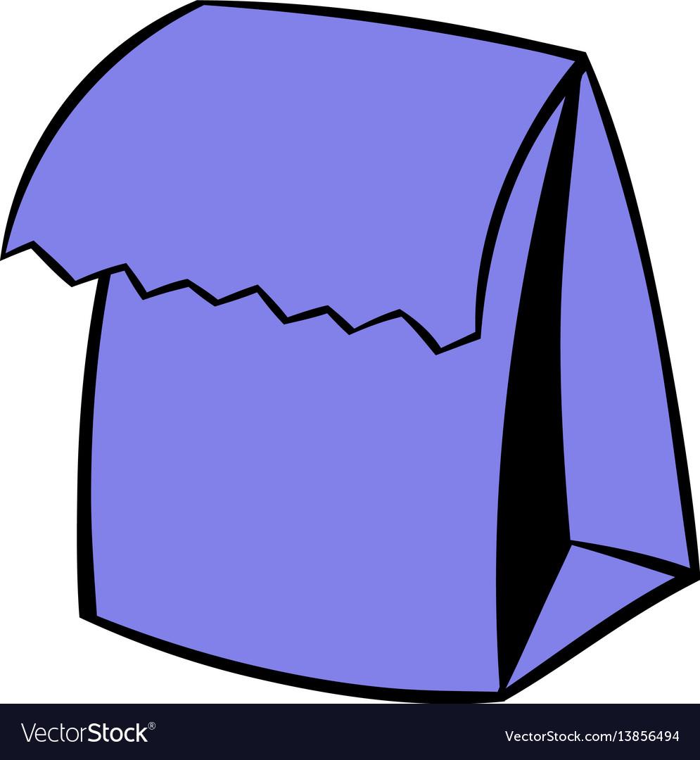 Lunch bag icon icon cartoon vector image