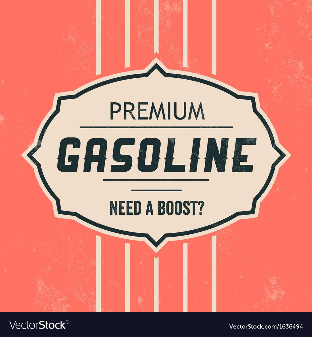 Vintage gasoline sign retro template royalty free vector vintage gasoline sign retro template vector image maxwellsz