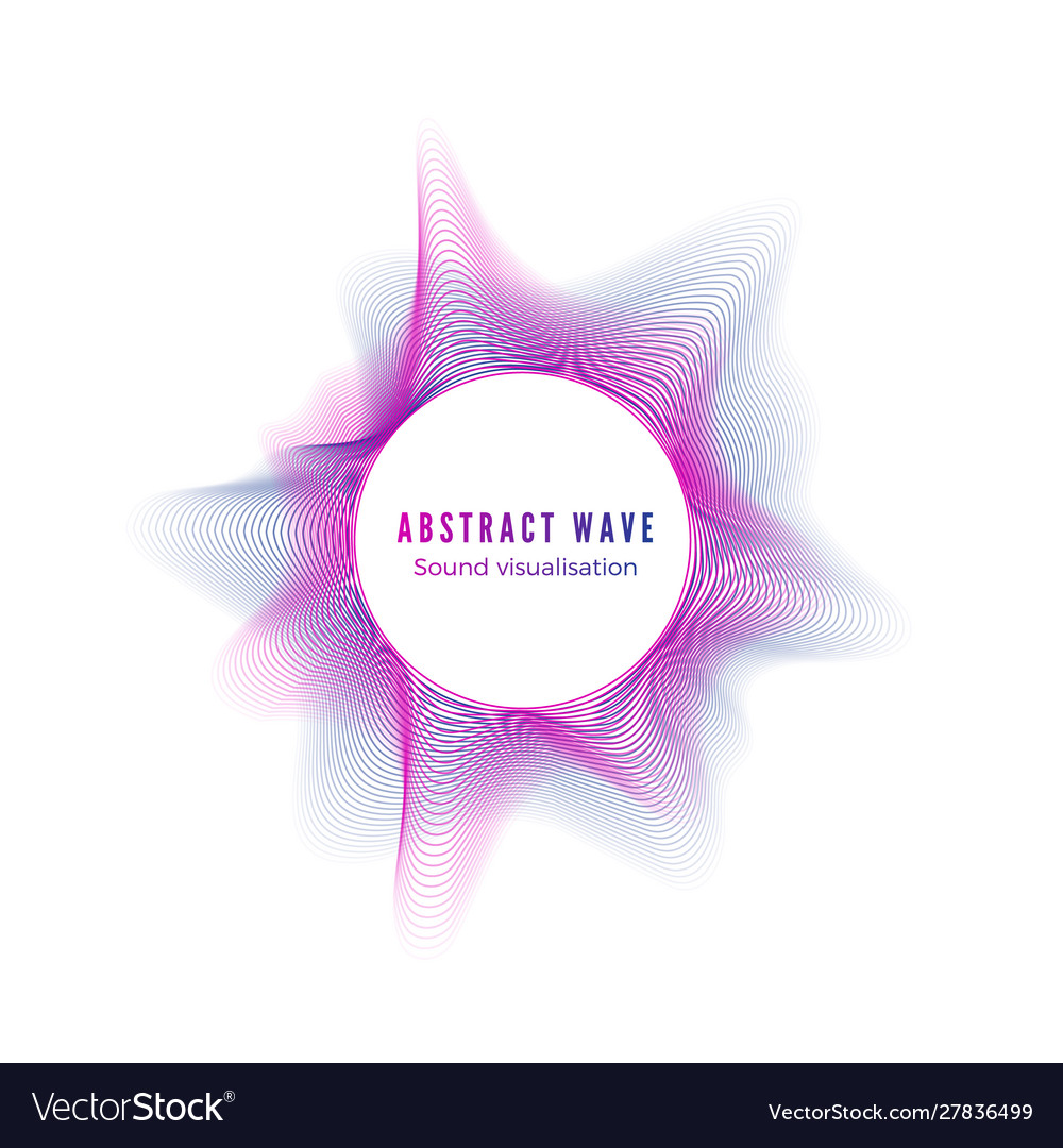 Abstract color radial sound wave digital music