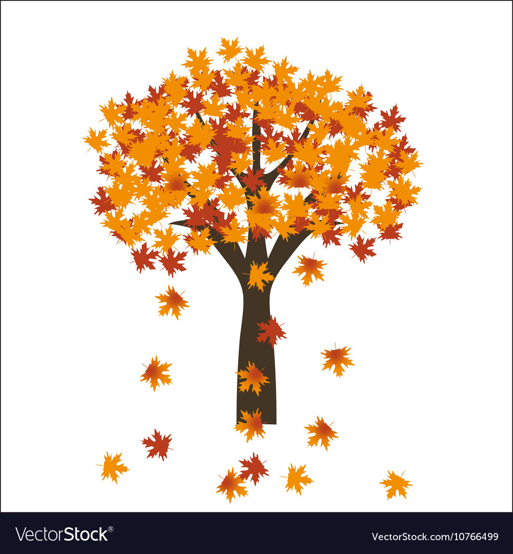 Autumn maple tree leaves on bright background EPS vector image