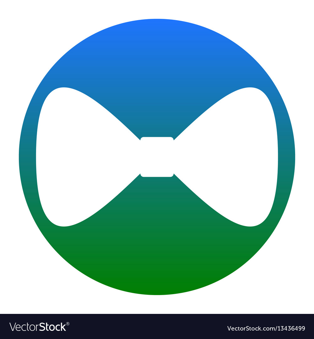 Bow tie icon white icon in bluish circle vector image
