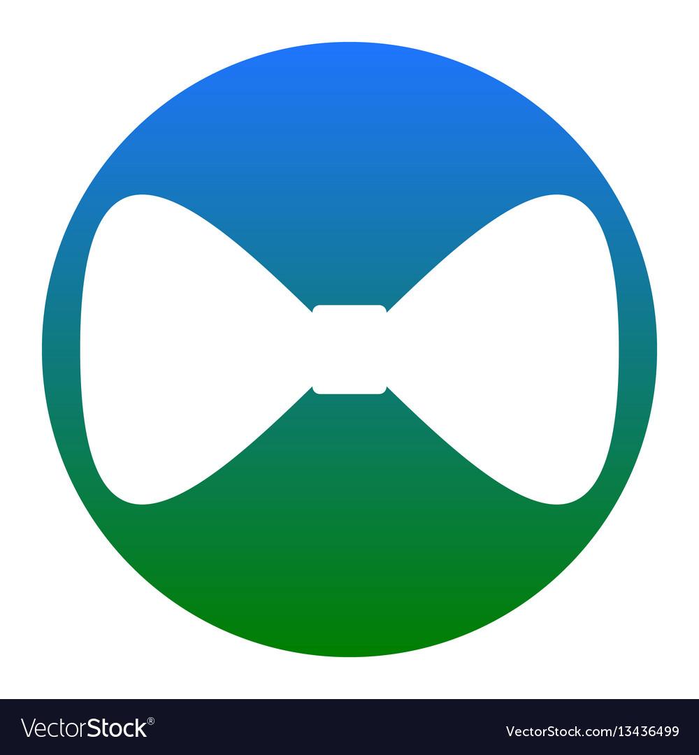 Bow tie icon white icon in bluish circle