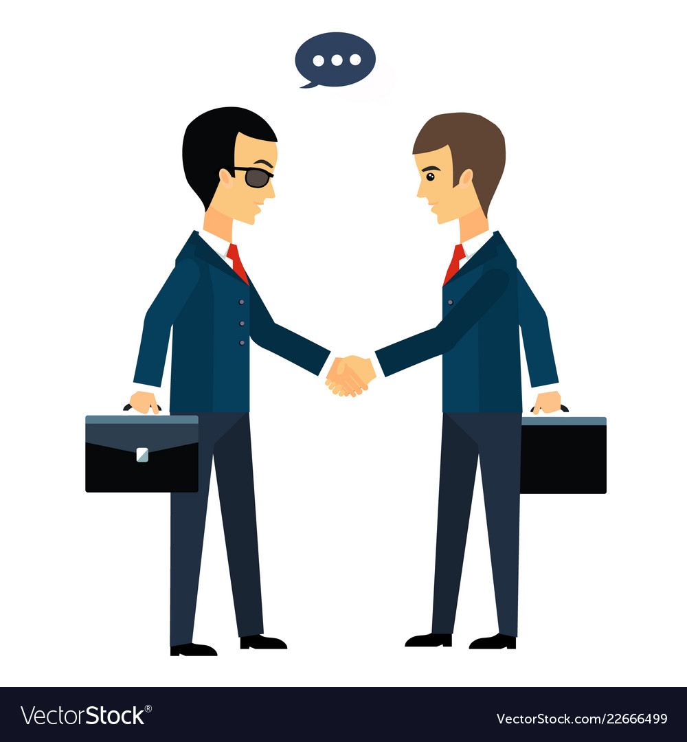 Deal two businessmen shaking hands