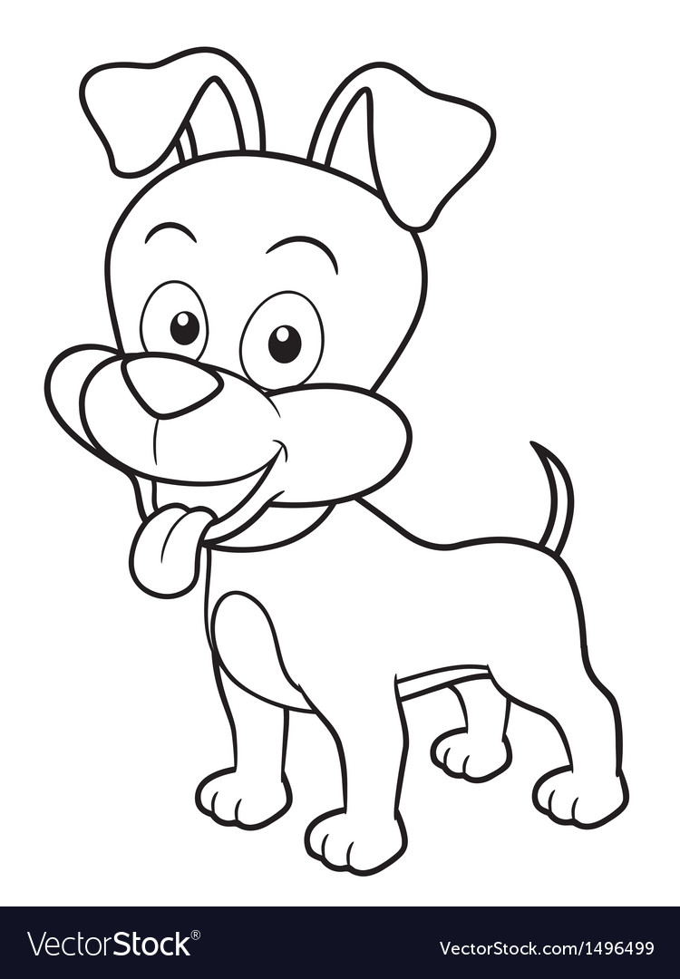 Dog outline vector image