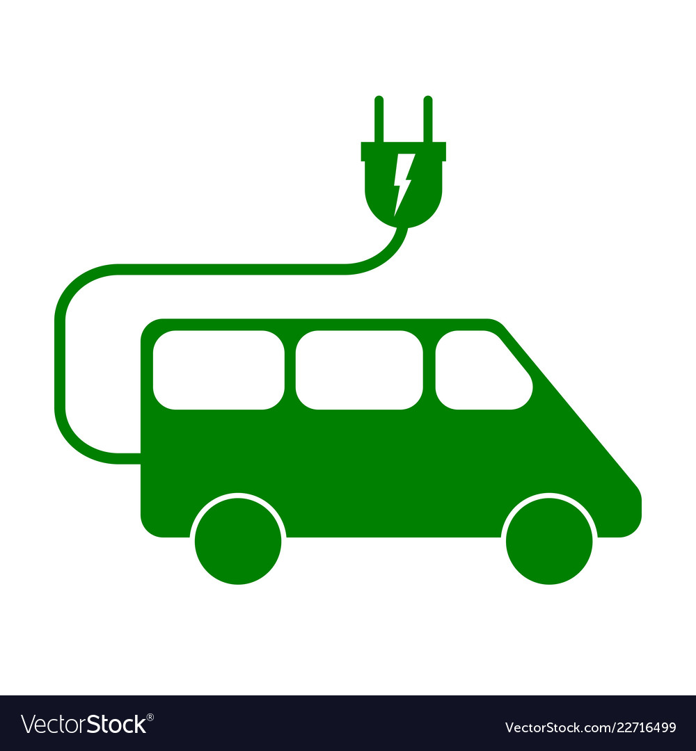 Electric minivan sign