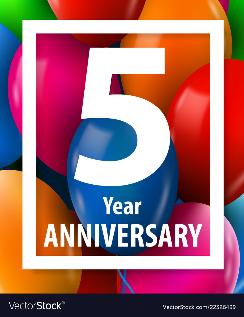 Five years anniversary 5 year greeting card or
