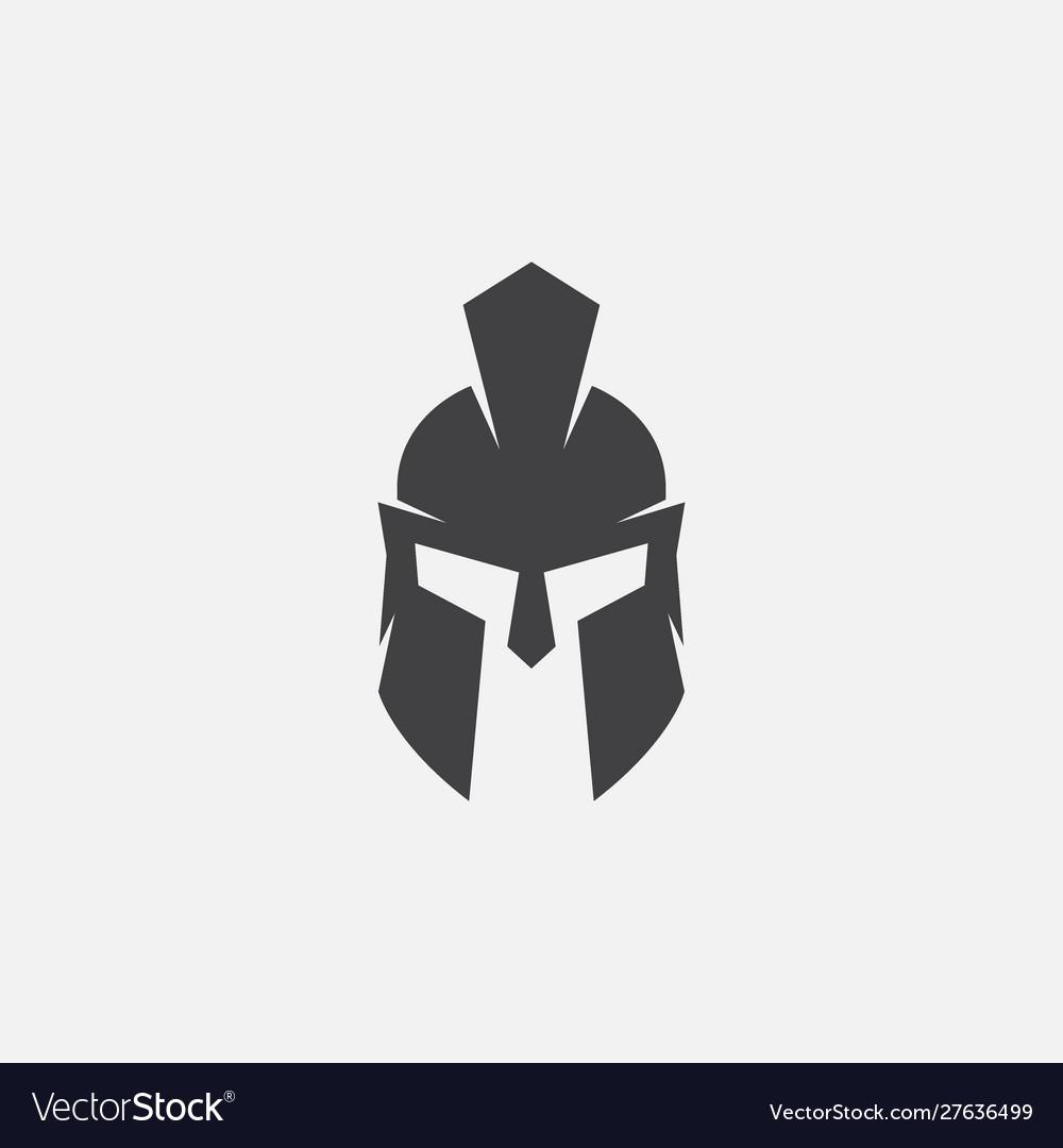 Gladiator helmet spartan helm icon